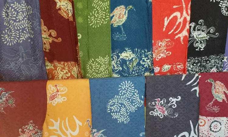 Batik Kuntul Perak Khas Bontang