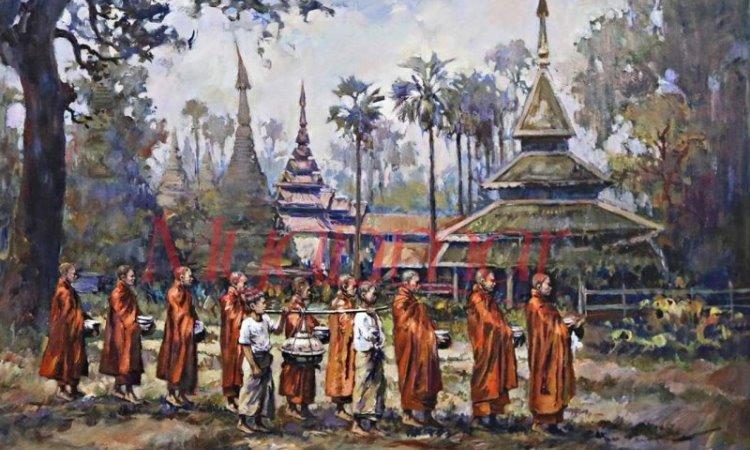 Lukisan Khas Myanmar